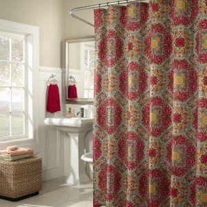 Ruby Kashmir Shower Curtain