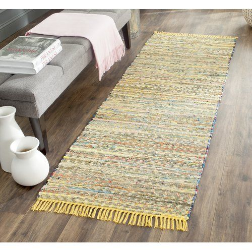 Daphne Hand Woven Yellow Area Rug