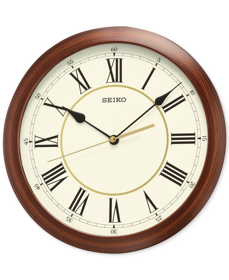 Seiko Wood Look Wall Clock Wall Clock Wall Clock Glass Wall Clock Classic