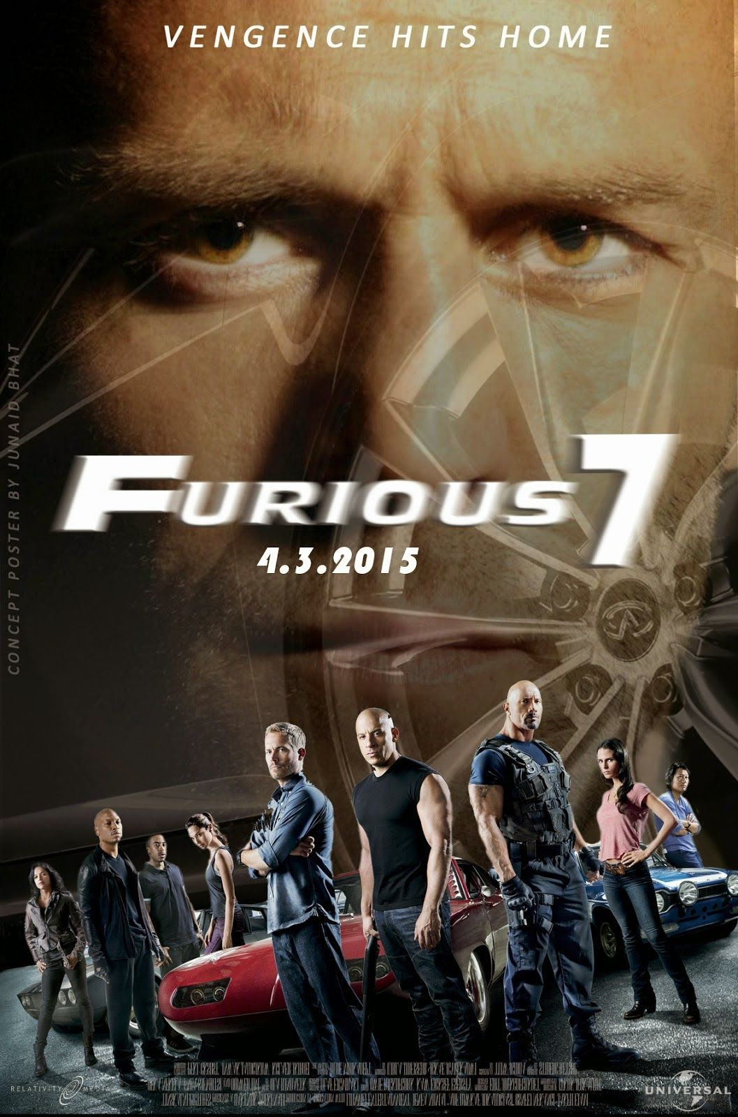 Fast and furious 7 (2015) hindi dubbed watch & download 400mb.