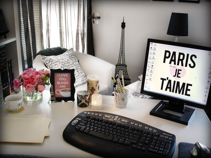 Paris Inspired Home Office