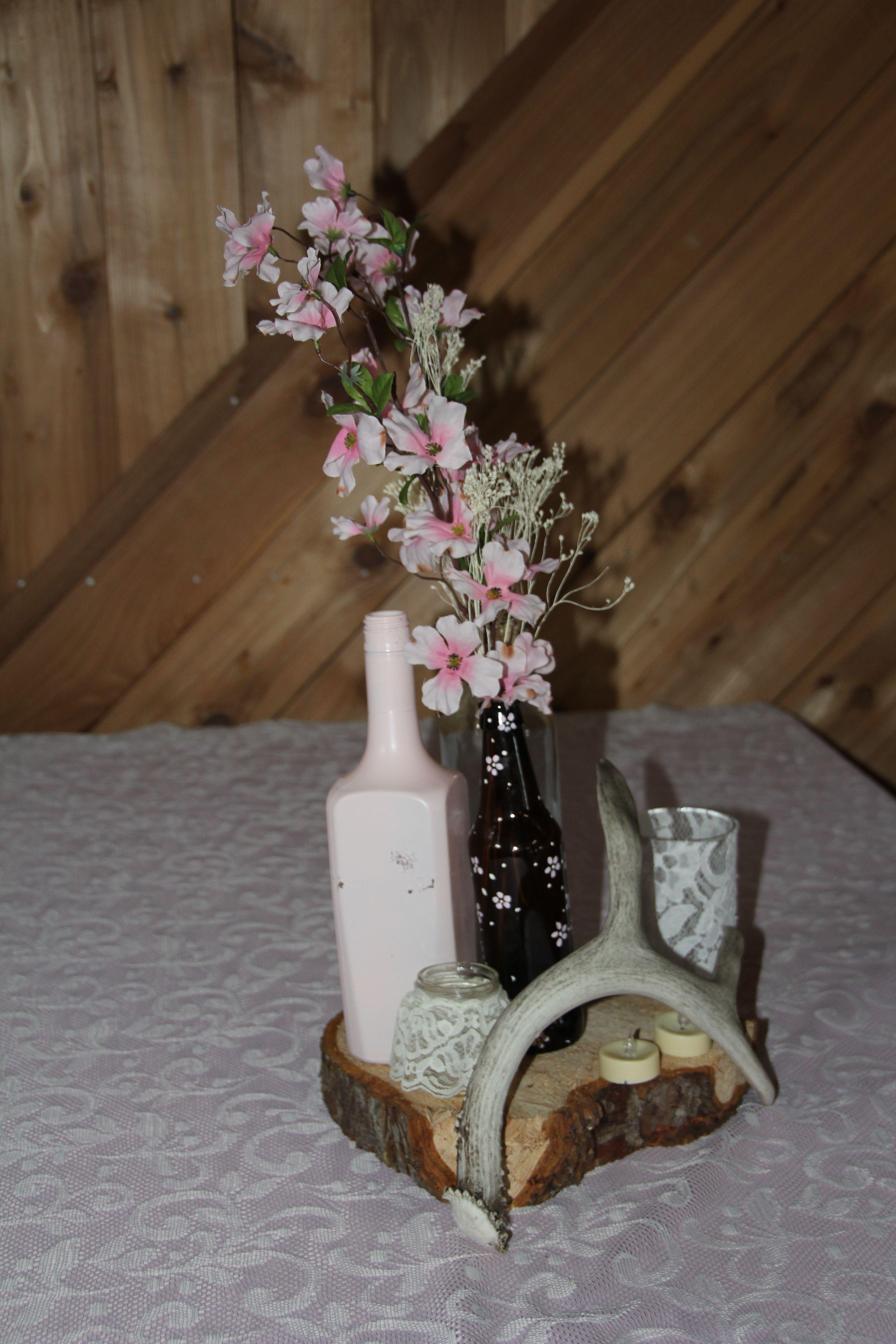 DIY rustic, country, antler, deer horn, wedding