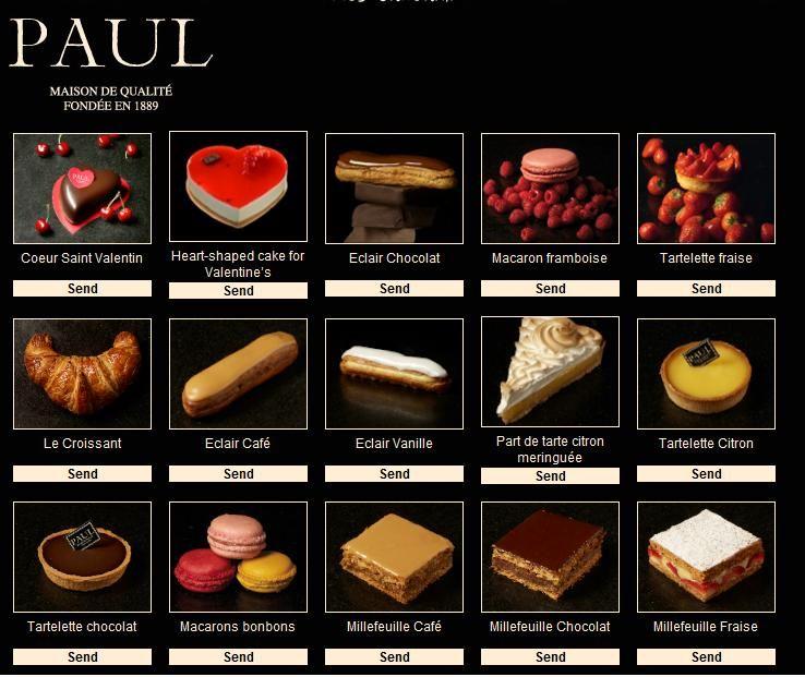 Paul Bakery Cake Price