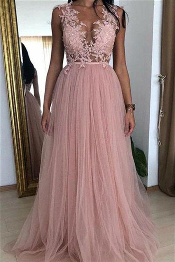 Modern Abendkleider Rosa | Abiballkleider Lang Mit