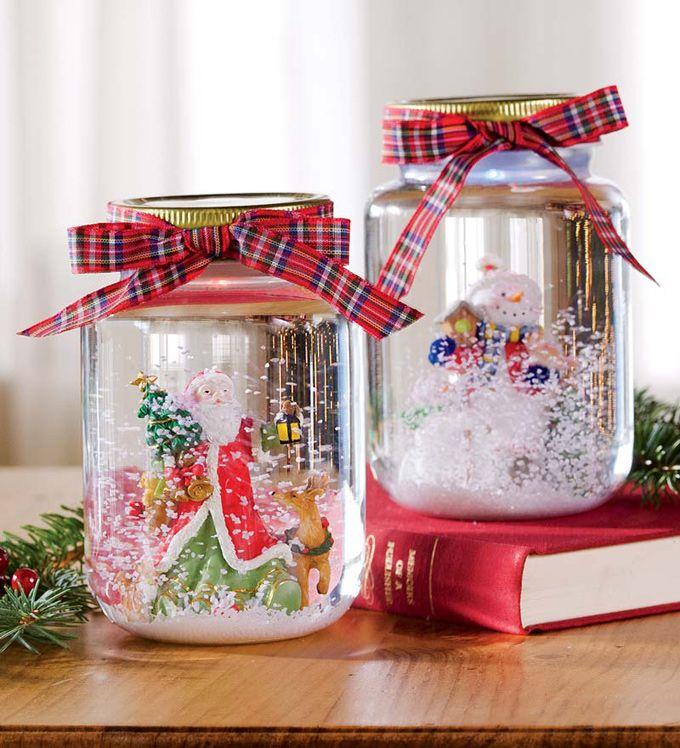 Adornos Navidenos Con Frascos De Vidrio Reciclados Frascos De Vidrio De Navidad Frasco De Vidrio Adornos Navidenos Reciclados