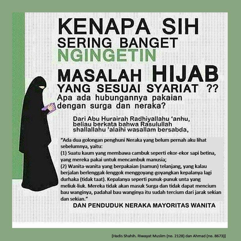 Ancaman Tidak Memakai Hijab Syari Islamic Quotes Kutipan