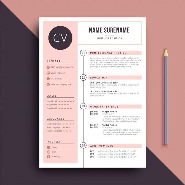 Business Infographic Modele De Cv De Couleur Feminine Infographicnow Com Your Number One Source For Daily Infographics Visual Creativity Desain Cv Cv Kreatif Kartu Nama Bisnis