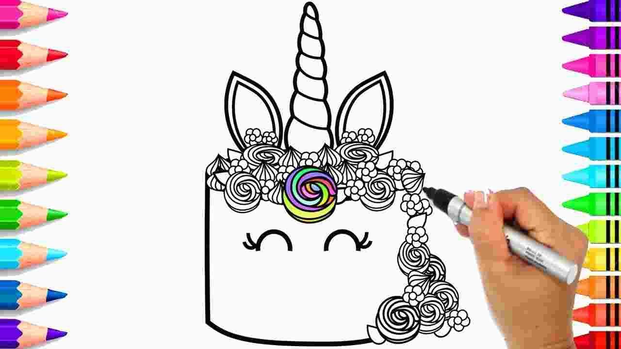 Rainbow Unicorn Cake Coloring Pages Unicorn Coloring Pages Coloring Pages Rainbow Unicorn Cake