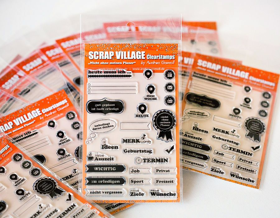 New Clearstamp Set for Filofaxing & Project Life by Andrea Gomoll - available at Scrap Village