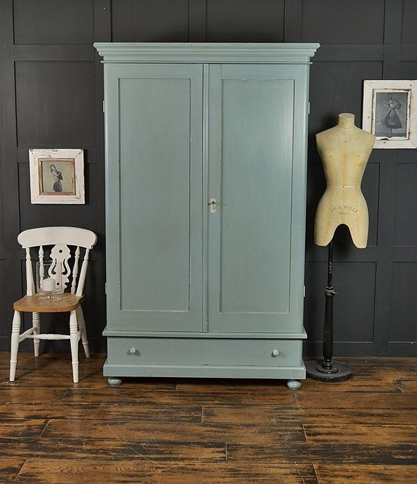 Trend Farrow u Ball Oval Room Blue Antique Shabby Chic Wardrobe artwork