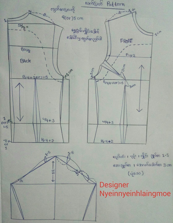 Pin by Reni Baso on myanmar dress pattern   Clothes sewing ...