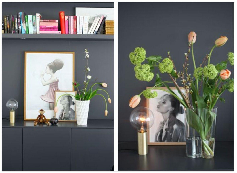 Väggen, blommorna ... Helheten