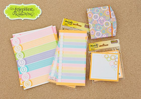 Josephine Kimberling's artwork with 3M the makers of Post-it. Electric Glow collection. Look for it at your local Target & office supply stores!