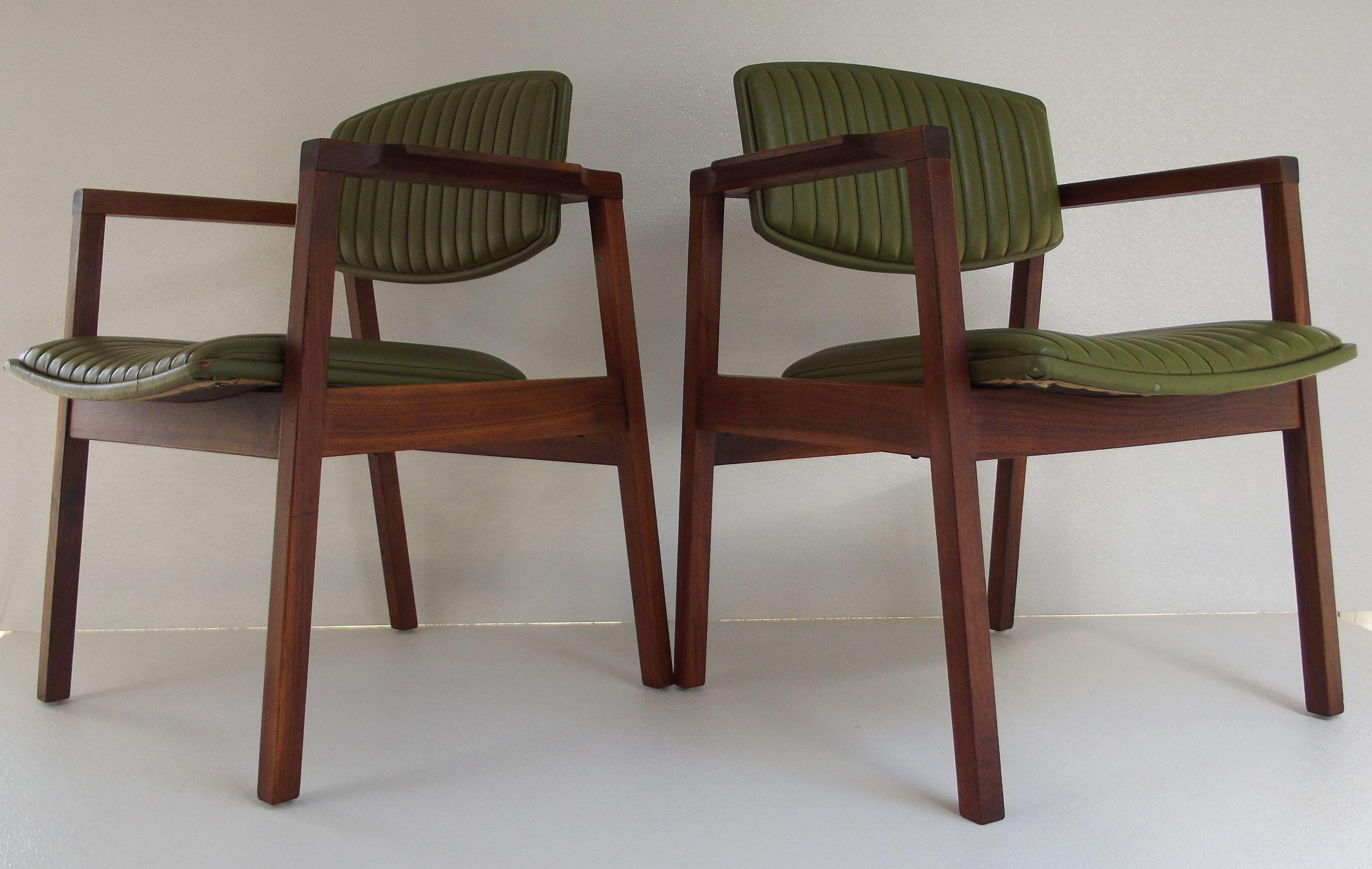 pair 1960 s mid century danish modern madison lounge arm chairs
