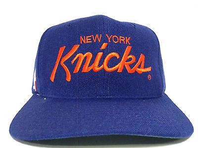df597783ecd03 vintage new york knicks 90s sports specialties nba mens adj snapback ...
