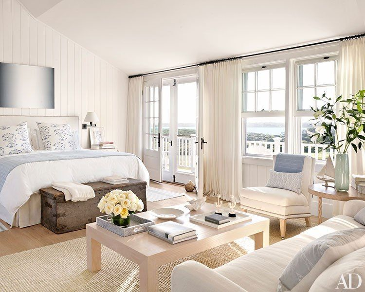 Nantucket style beach chic bedroom neutral tones for Classic beach house designs