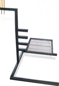 Campfire Grill Stand   Homemade Campfire Grill Stand Featuring An Adjustable  Grate Level.