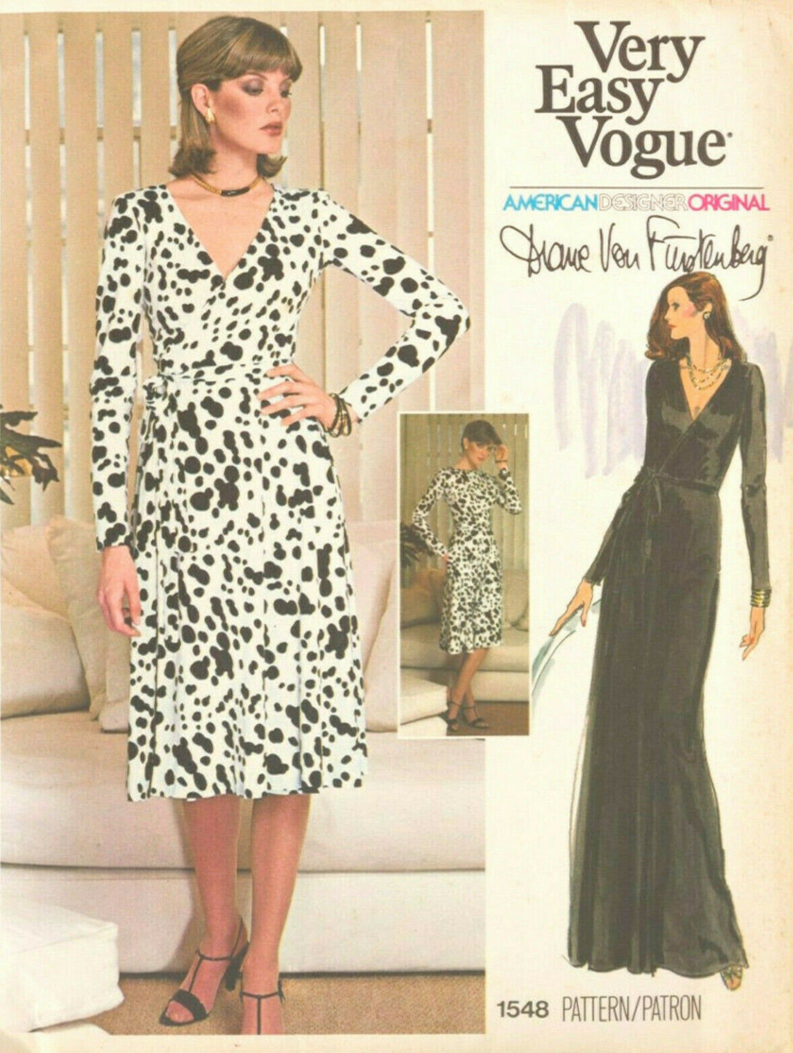 1976 Vintage Vogue Sewing Pattern Wrap Dress B38 1891 By Diane Von Furstenberg 1548 In 2021 Diane Von Furstenberg Wrap Dress Pattern Vintage Wrap Dress Diane Von Furstenberg Wrap Dress [ 2108 x 1588 Pixel ]