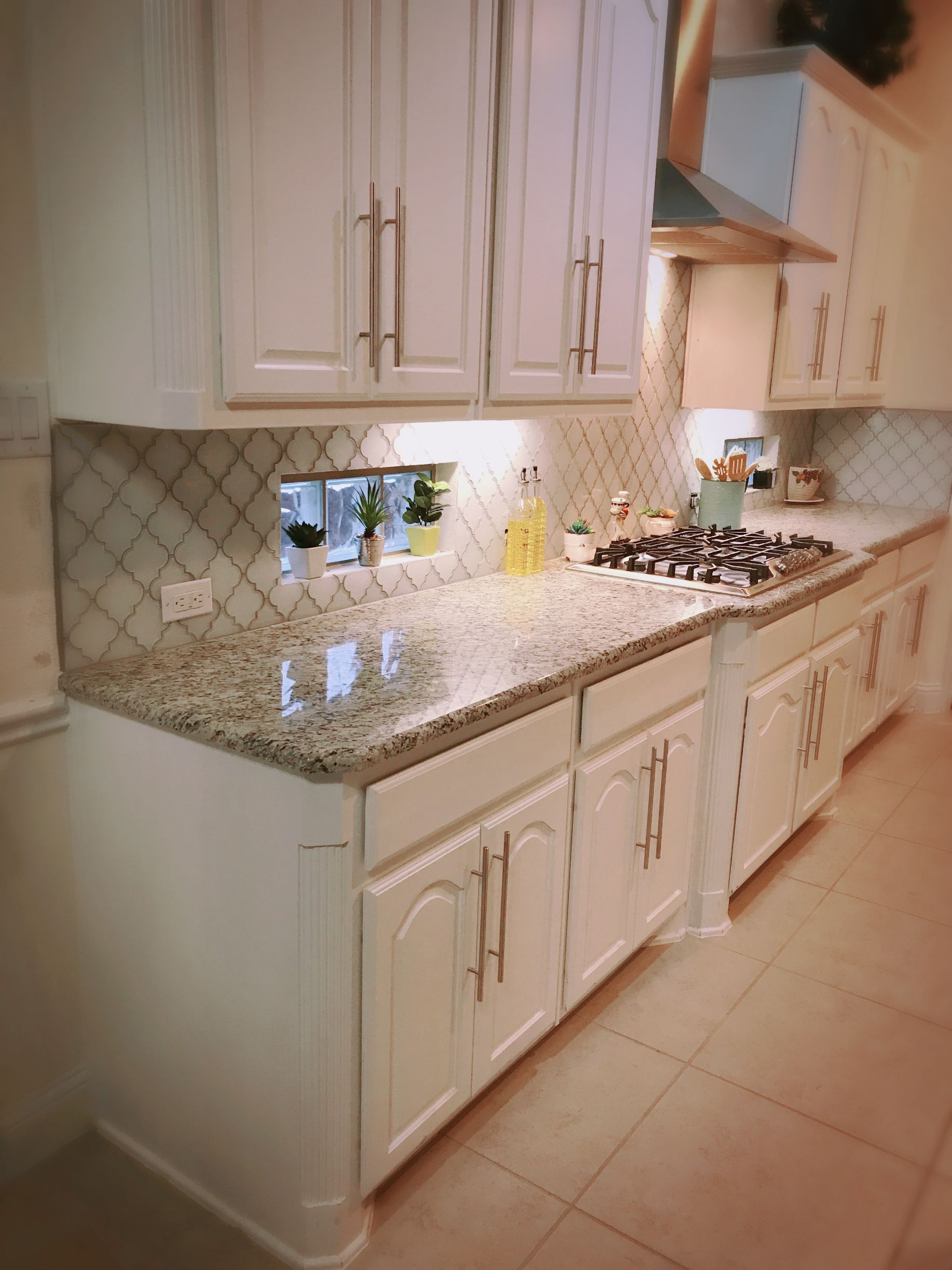 Kitchen BacksplashArabesque Tile BacksplashKitchen VentHerringbone BacksplashBacksplash