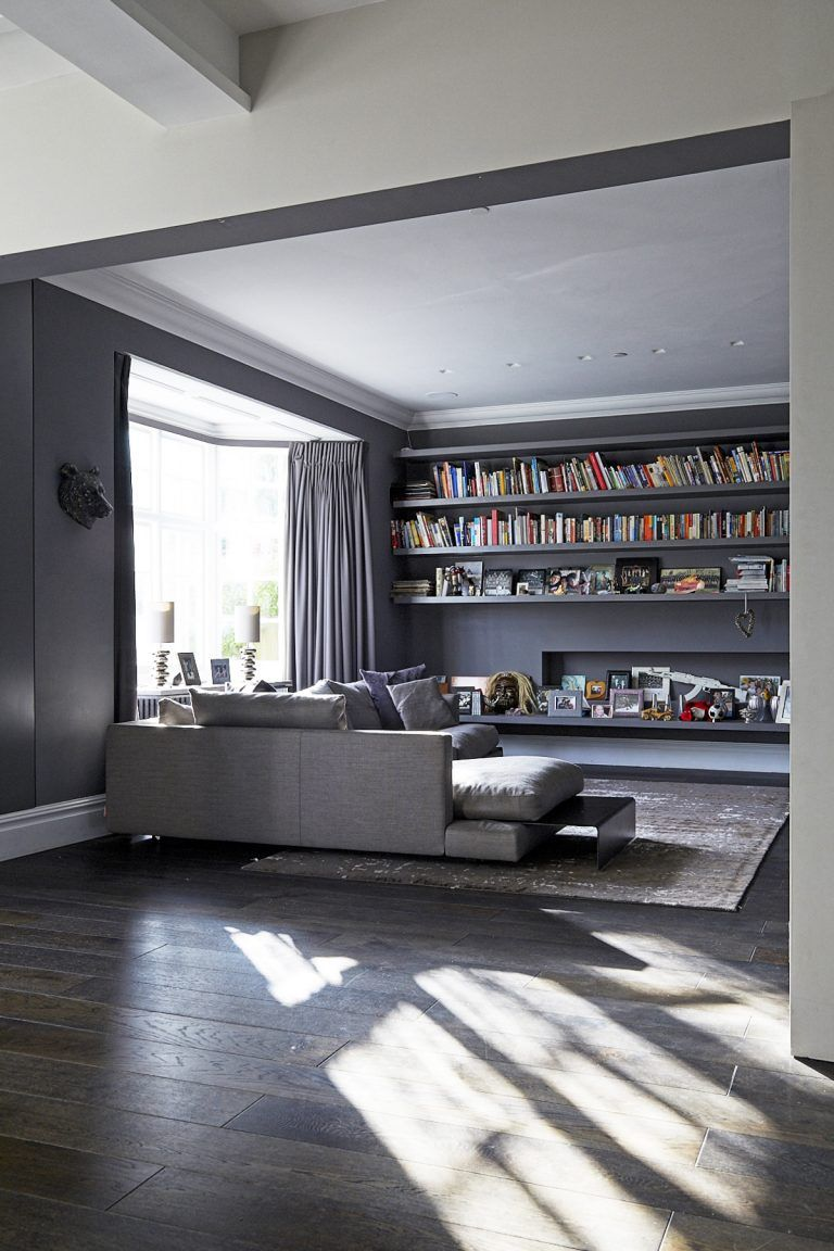 Jack London Sw15 Designer Period Location House Living Room Inspiration Dark Wooden Floor White Units