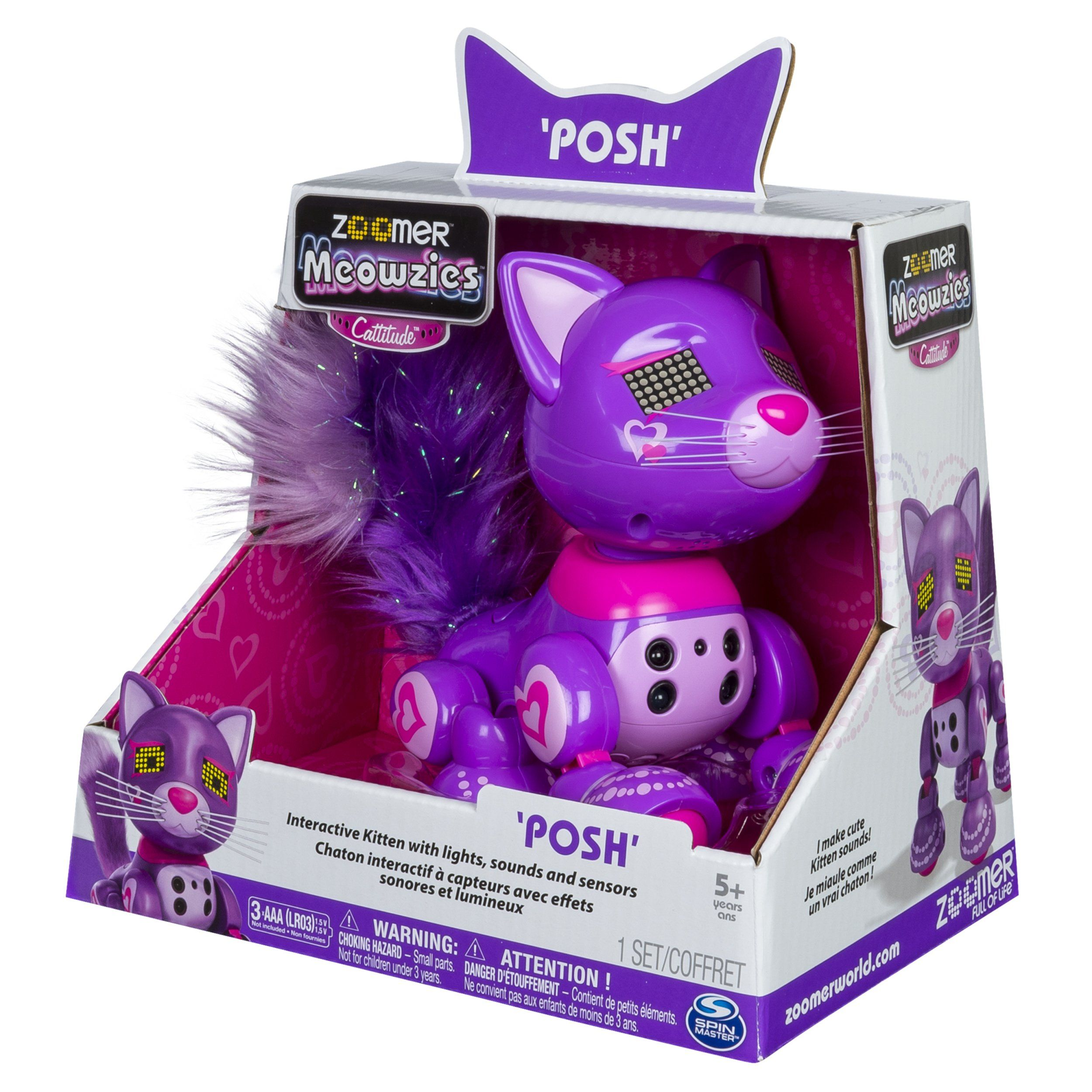 Zoomer Meowzies Posh Interactive Kitten With Lights Sounds And Sensors You Can Get Additional Details At The Image Link This Is A Interactive Sensor Lights