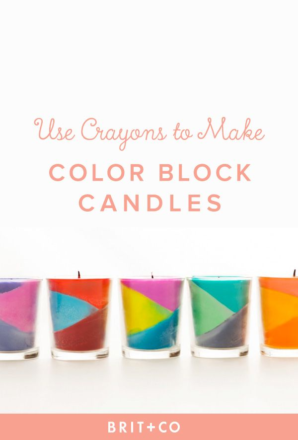 Use Crayons to Create Color Block Candles | Color blocking, Crayons ...