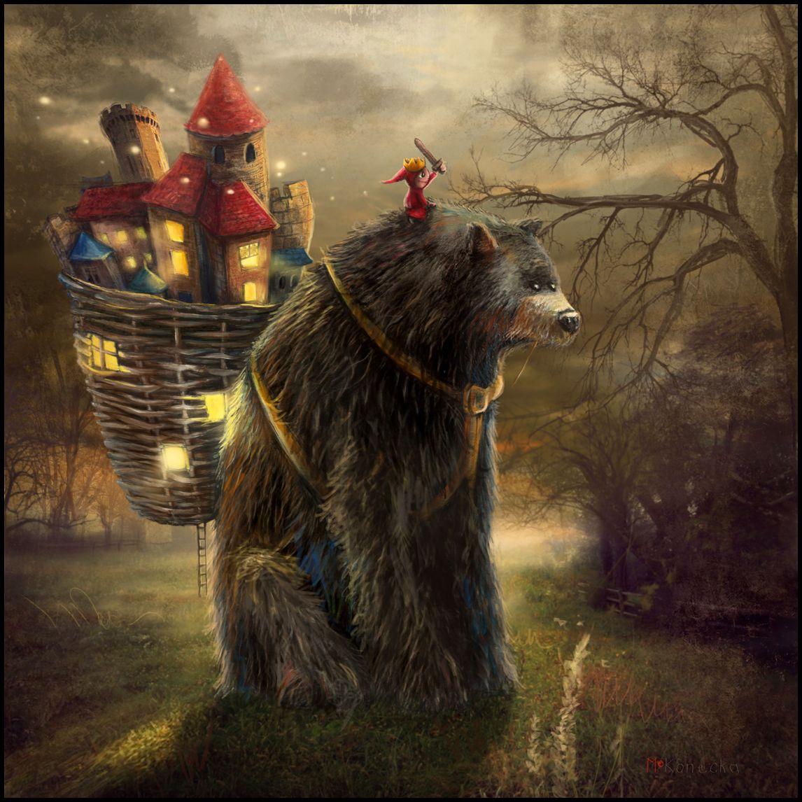 """A Bear Who Carried A Kingdom"" Edinburgh Castle, Scotland. Matylda Konecka www.matyldakonecka.com  #matyldakonecka  #edinburghcastle  #scotland  #art  #illustration  #bear  #prince  #kingdom  #fairytale  #fantasy"