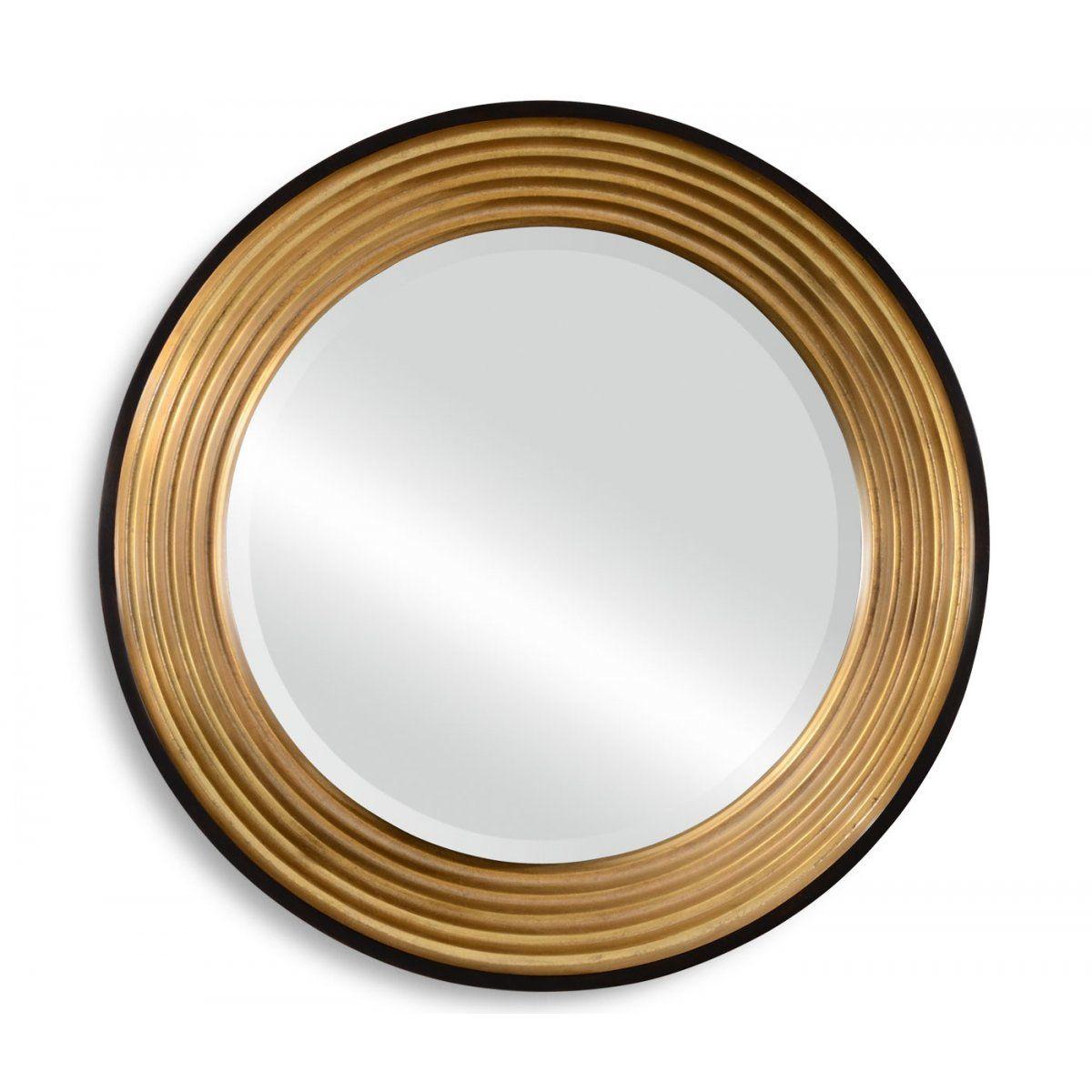 round gold mirror luxury buy art deco round gold mirror swanky interiors jonathan charles furniture hallway m2