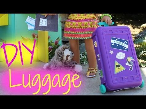 DIY American Girl Doll Luggage #americangirlhouse