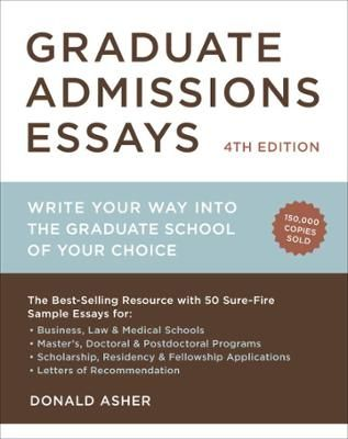 Graduate Admissions Essays, Fourth Edition by Donald Asher, Click to - Resume Sample For Pennsylvania University