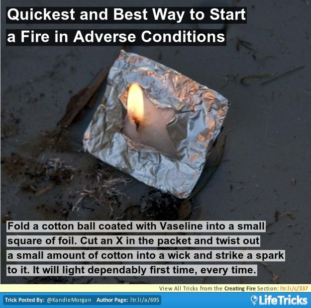 Quickest and Best Way to Start a Fire in Adverse Conditions