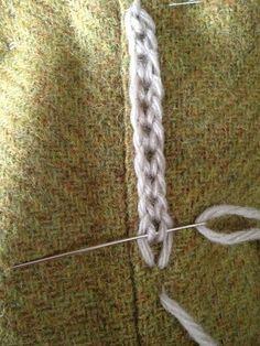 Flechtartige Stickerei                                                       … - #diyStickerei #textilepatterns