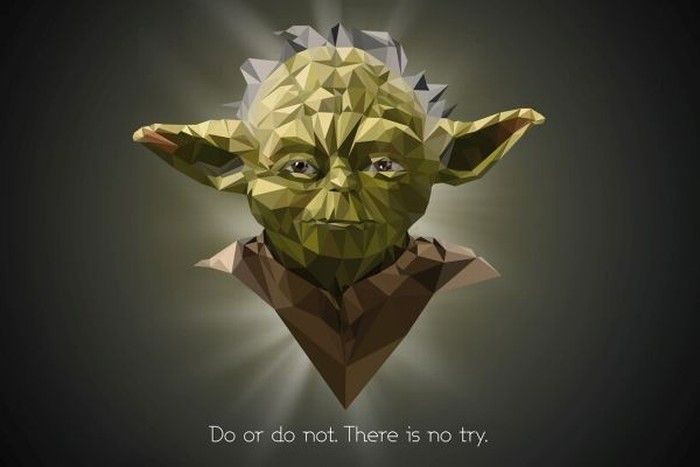 Yoda - Polygonal Star Wars Portraits by Vladan Filipovic