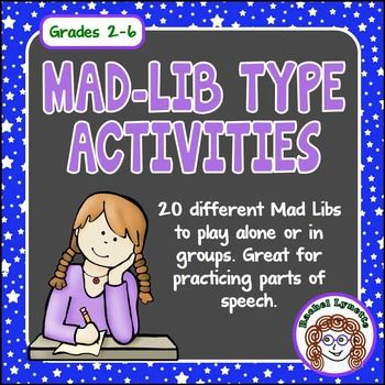 It is a photo of Gutsy 4th Grade Mad Libs