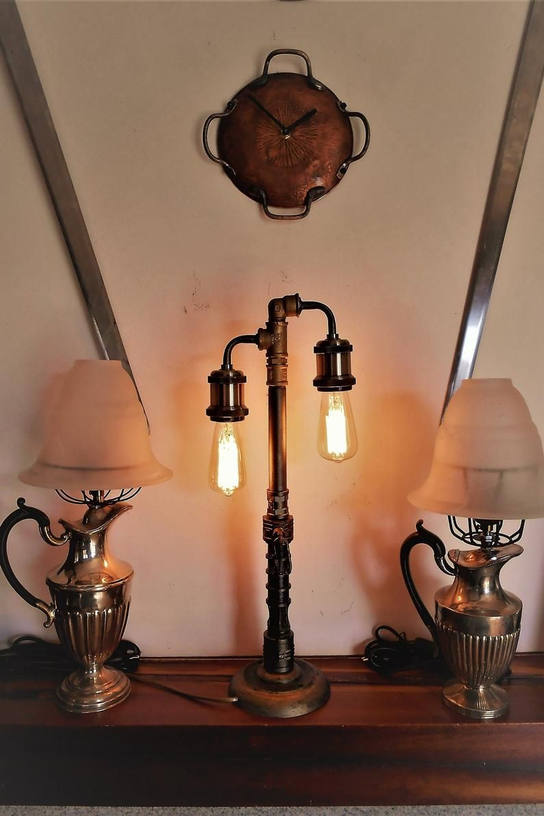 Steampunk Desk Lamp Vintage Lamp Design Lamp Edison Etsy Vintage Lamps Lamp Steampunk Table Lamp