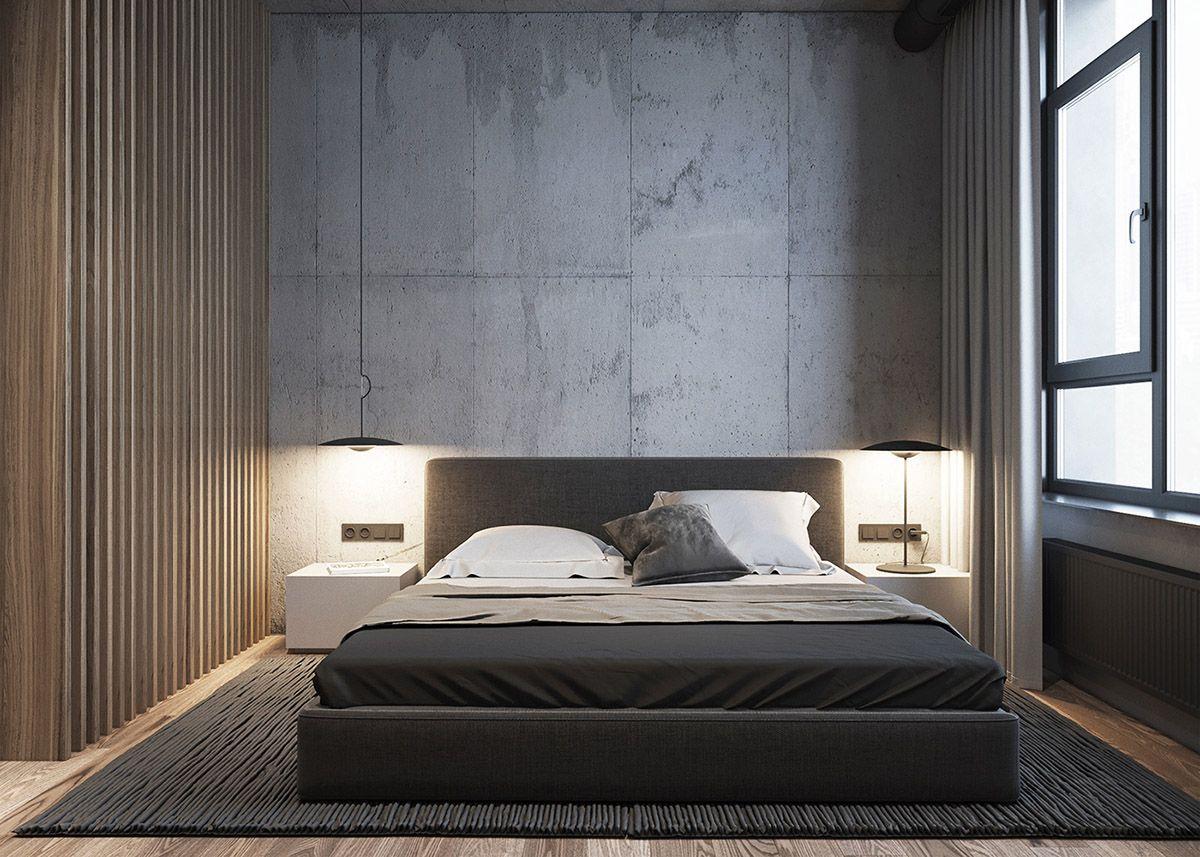 Grey Raw Masculine Interiors Mens Bedroom Decor Masculine Interior Bedroom Interior