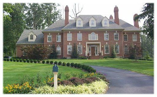 Brick Colonial Homes Large Brick Colonial Custom Home
