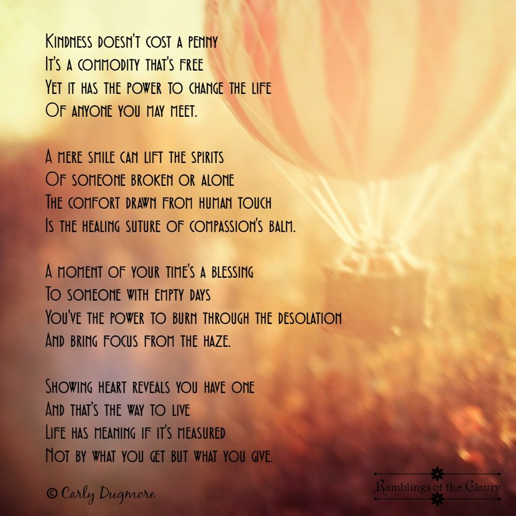 Poems and prose Happy Kindness 26