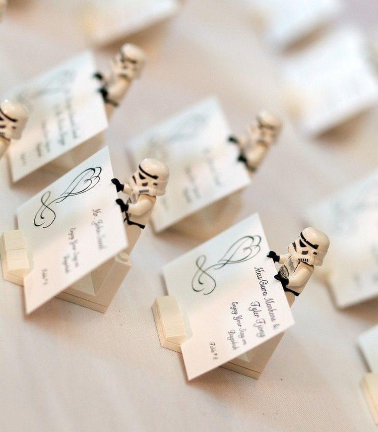 Ideen Tischkarten Staender Star Wars Sturmtruppen Lego Figuren Lego Hochzeit Tischkarten Hochzeit Star Wars Hochzeit
