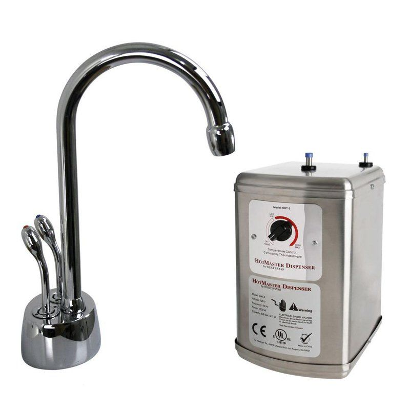 Westbrass D272H Develosah Double Handle Hot/Cold Water Dispenser Faucet with Hot Water Tank - 5734