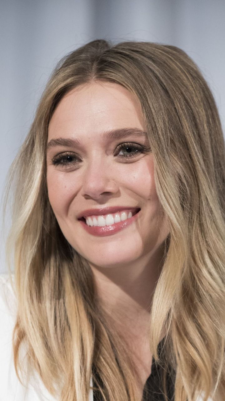 Smile, Elizabeth Olsen, blonde, actress, 720x1280 wallpaper | Random ...