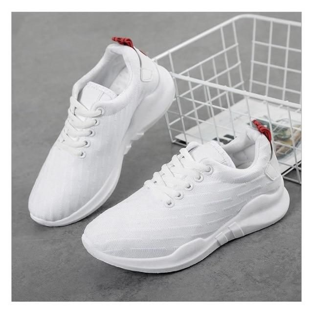 cbc45b9616 MoneRffi New 2019 Women Flat Spring Sneakers Shoes Femme Mesh Lace ...