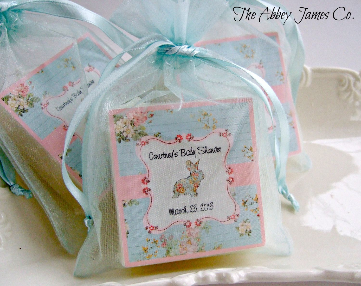 Reserved For Ashley, Set Of 22 Soap Favors. Shabby Chic Baby Shower ...