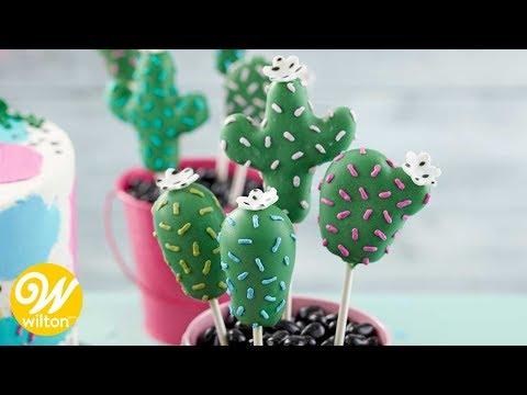 46 How To Make Cactus Cake Pops Wilton Youtube Cactus Cake Savoury Cake Cake Pops