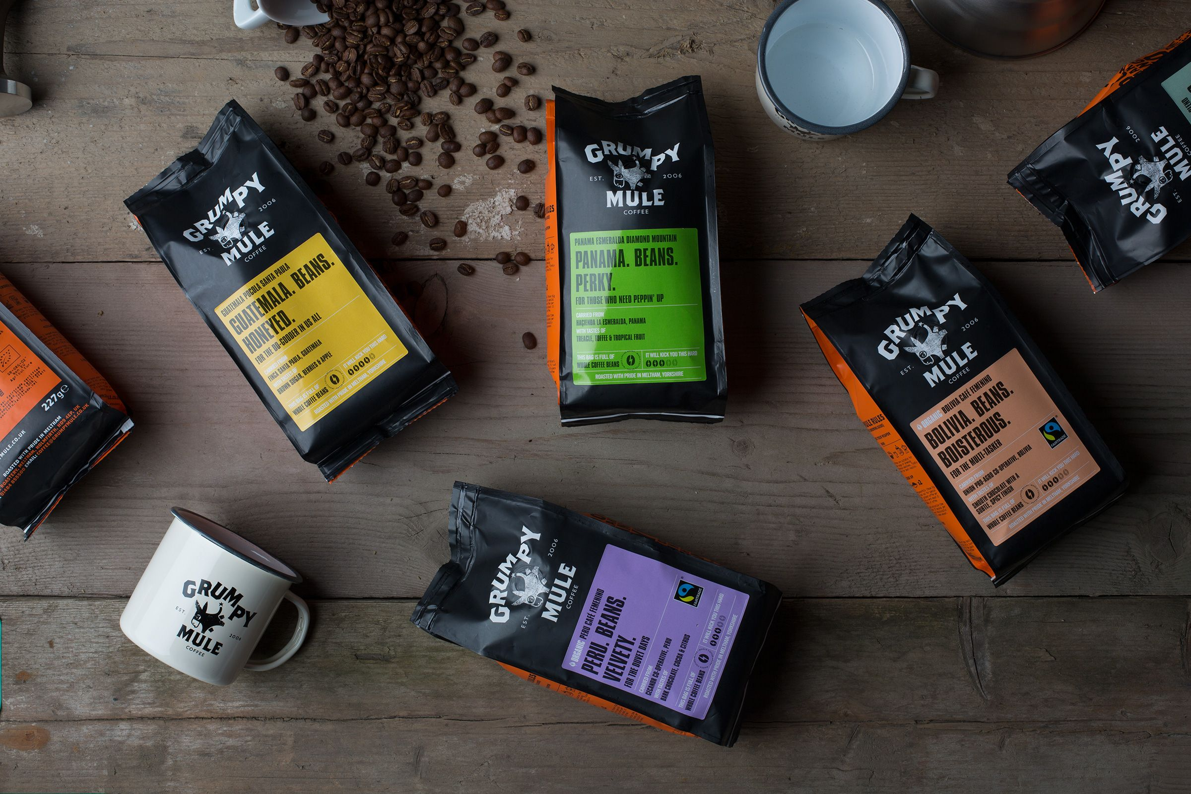Image result for grumpy mule coffee Fair trade coffee
