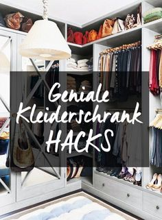 einfach g nstig genial diese 7 kleiderschrank hacks. Black Bedroom Furniture Sets. Home Design Ideas