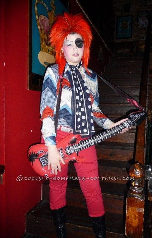 Homemade David Bowie Costume Inspired By Ziggy Stardust And