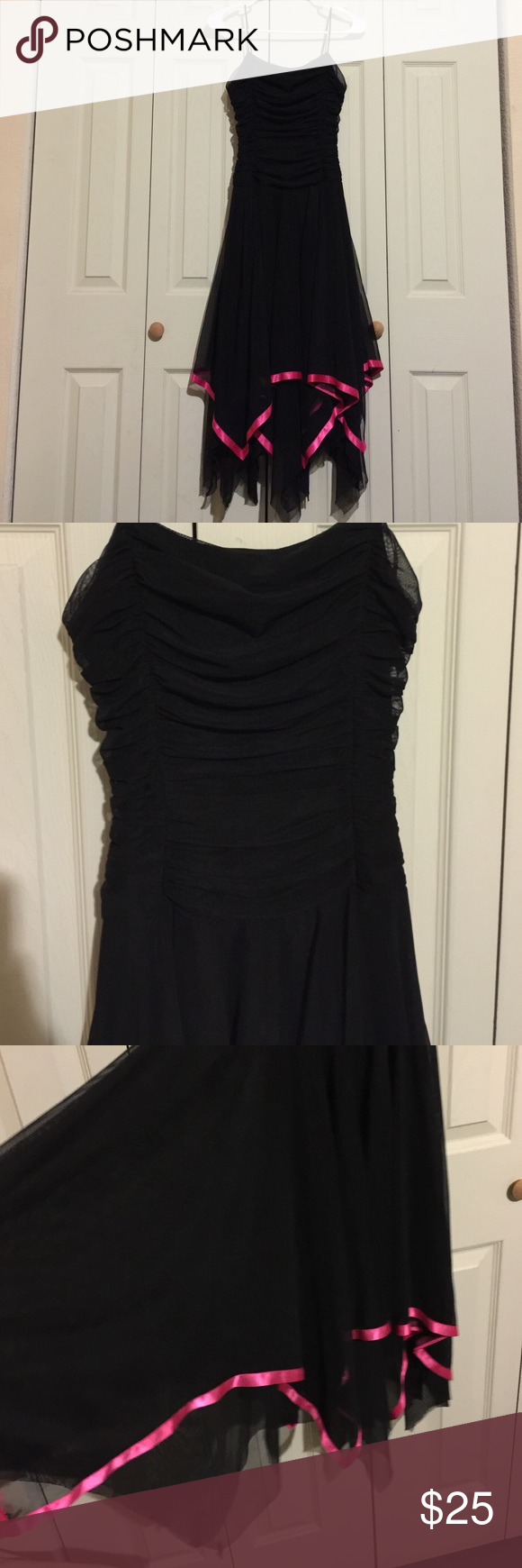 Black prom dress beautiful Size Medium 30% Polyester 60% Nylon Ynes Dresses Maxi