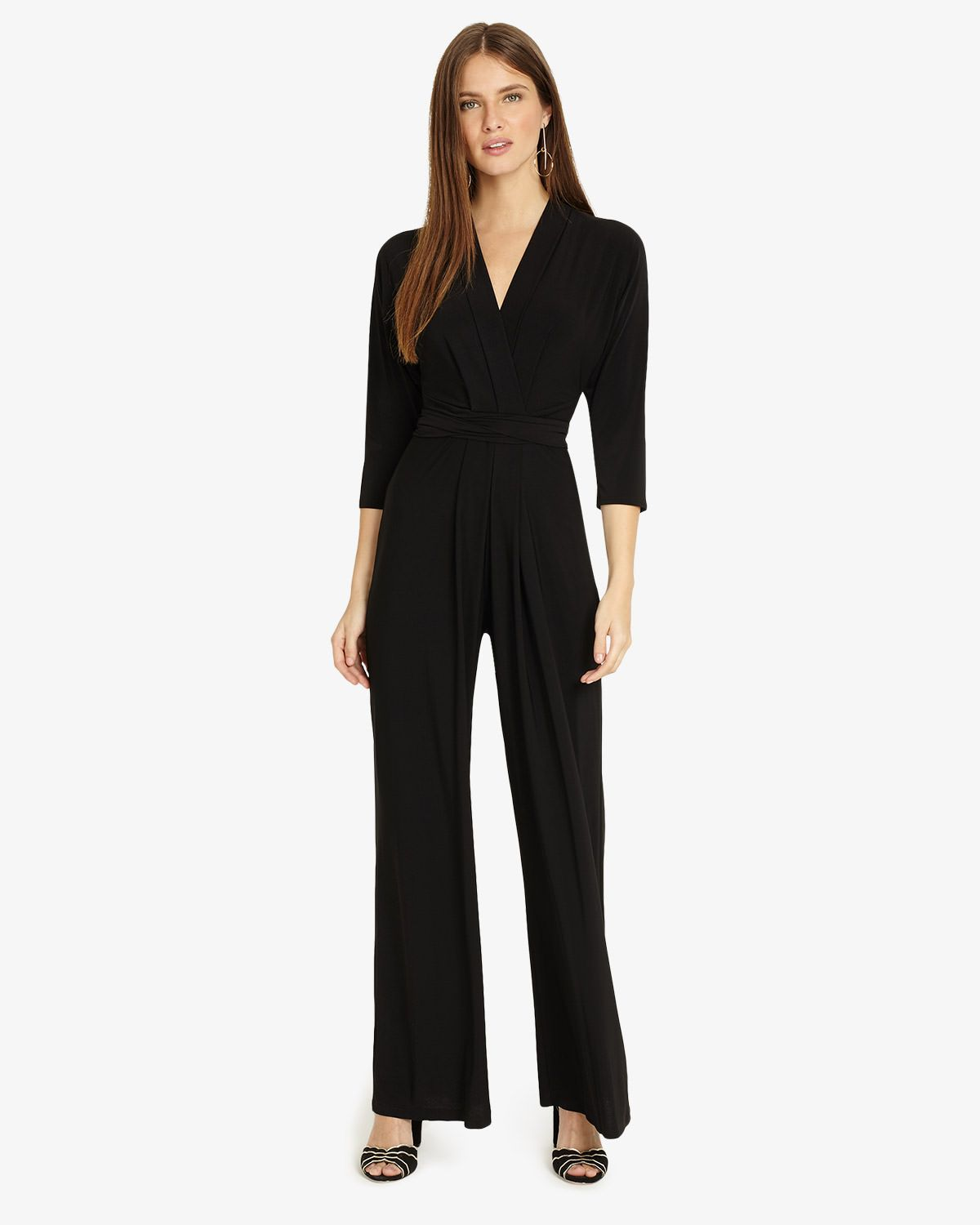 a4895e89c409 Phase Eight Tia 3 4 Sleeve Jumpsuit Black