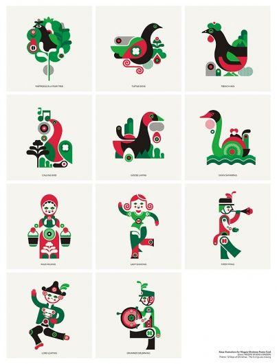 12 Days of Christmas Icons \ Fernando Volken Togni